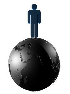 Free Man On The World Stock Photo - 1752370