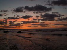 Free Sunset In Normandy Stock Photo - 1752470