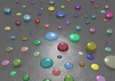 Free Colored Drops Royalty Free Stock Images - 1753159