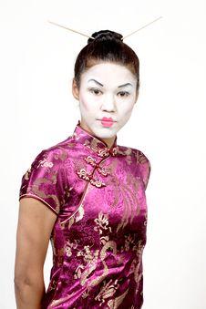 Free Lady With Geisha Makeup Stock Image - 1755411
