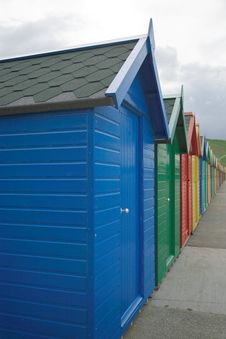 Free Beach Huts Royalty Free Stock Photography - 1757067