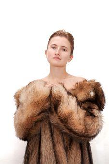 Free Woman In Fur Stock Image - 1758041