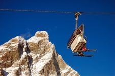 Free Ski Lift Undeer Matterhorn (2/4) Stock Photography - 1758232