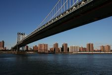 Manhattan Bridge In NYC Royalty Free Stock Image