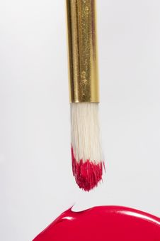 Free Brush And Red Stock Image - 1758791