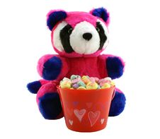 Free Valentine S Day Bear With Candy Hearts Royalty Free Stock Photography - 1758827