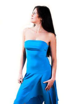 Free Young Beautiful Woman In Blue Dress Stock Photo - 1759440