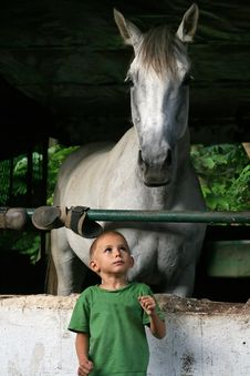Free Young Boy And Horse Stock Photos - 1759933