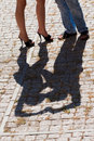 Free Shadow On The Cobblestones Royalty Free Stock Image - 17502246