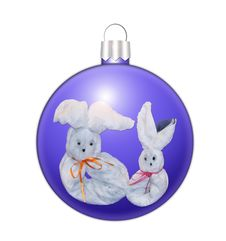 Free Christmas Sphere With Hares Royalty Free Stock Photos - 17500508