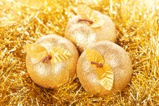 Free Golden Apples Royalty Free Stock Image - 17500566