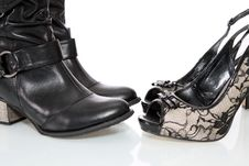 Free Female Boots And Shoes, Isolated. Stock Photos - 17500743