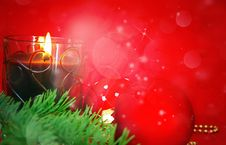 Free Christmas  Red Card Stock Image - 17500751