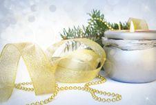 Free Candle On White Royalty Free Stock Photos - 17500798