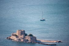 Nafplio Bay Fortress Royalty Free Stock Image