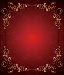 Free Floral Frame Background Stock Images - 17500994