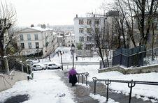 Free France Paris  Under Snow Stock Photo - 17502840