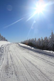 Free Winter Road Royalty Free Stock Image - 17503306