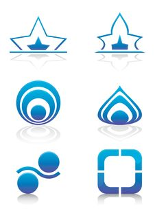 Free Blue Purple Signs And Symbols Set Stock Photos - 17503813