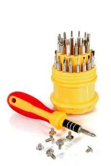 Set Of Screw-drivers Stock Images