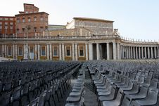 Free Chairs Waiting People In San Pietro Square Stock Photo - 17503900