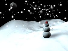 Free Snow Man Royalty Free Stock Images - 17504009