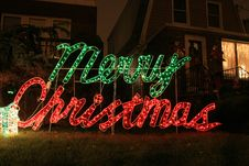 Free Merry Christmas Decoration Royalty Free Stock Photos - 17504208