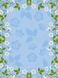 Free Floral Frame Royalty Free Stock Photo - 17504545