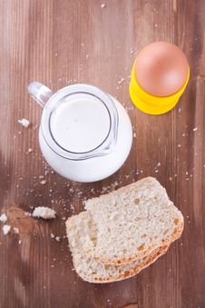 Free Breakfast With Fresh Bread Royalty Free Stock Photo - 17504755