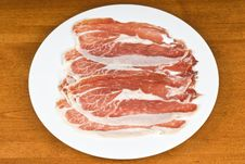Spanish Cured Ham On A White Plate Stock Photography