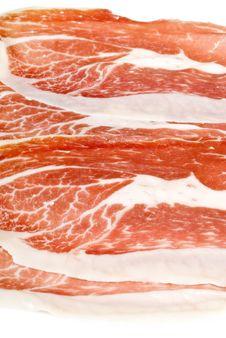 Free Spanish Cured Ham Isolated On White Royalty Free Stock Images - 17504929