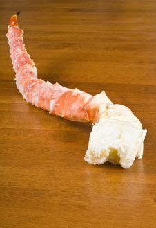 Free Frozen Alaskan King Crab Leg Stock Photography - 17505052