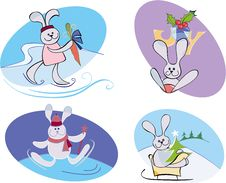 Free Marry Rabbits Royalty Free Stock Images - 17505059