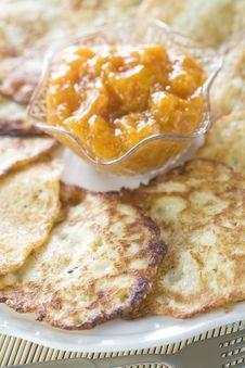 Free Potato Pancakes Royalty Free Stock Photography - 17505177