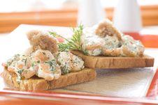 Shrimp Sandwich Royalty Free Stock Photo