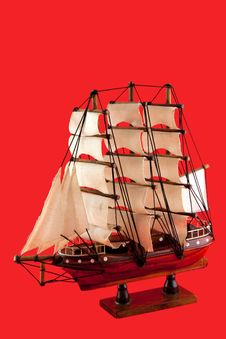 Free Sailboat Model Royalty Free Stock Photos - 17505228
