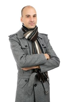 Free Portrait Of Handsome Man In A Coat Royalty Free Stock Photo - 17506065
