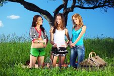 Free Girlfriends On Picnic Stock Image - 17506451