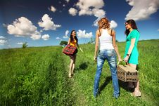 Free Girlfriends On Picnic Stock Photo - 17506510