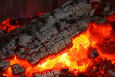 Free Embers Fireplace Royalty Free Stock Photos - 17506658