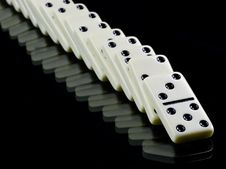 Free Domino Tiles On Black Royalty Free Stock Photo - 17507105