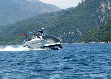 Free High Speed Yacht In The Aegean Sea Turkey Stock Images - 17507264