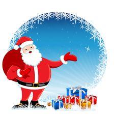 Santa In Christmas Card Stock Image
