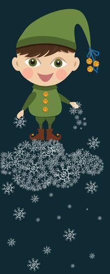 Free Christmas Boy Elf Royalty Free Stock Photo - 17508985