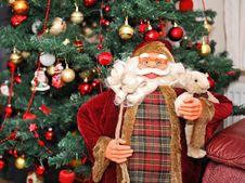 Free Christmas Tree And Santa Claus Royalty Free Stock Photo - 17508995
