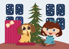 Free Puppy A Christmas Gift Stock Photo - 17509050
