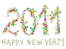 Colorful 2011 Text Stock Photo