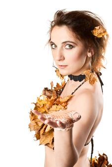 Free Lady Autumn. Royalty Free Stock Images - 17509529
