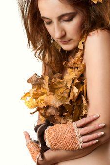 Free Lady Autumn. Stock Photo - 17509600