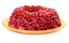 Free Fruit Cake With Pomegranate Seeds Stock Photos - 17509823